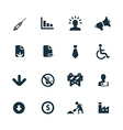 crisis icons set vector image vector image