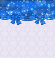 Cute background with ribbon bows vector image