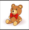 cute cartoon teddy bear on a white background vector image vector image
