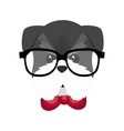 cute dog hipster style vector image vector image