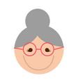 cute grandmother face cartoon vector image vector image