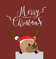 cute reindeer christmas greeting card vector image vector image