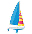 cute sea sailboat clipart cartoon style isolated vector image
