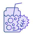detox cocktail flat icon fresh beverage violet vector image vector image