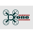 Drone icon Drone service and accessories text vector image vector image