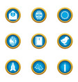 fictional icons set flat style vector image