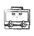 Figure kawaii cute thinking suitcase design