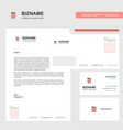 fires business letterhead envelope and visiting vector image vector image