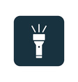 flashlight icon Rounded squares button vector image vector image