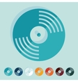 Flat design vinyl record vector image vector image