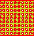 floral seamless with flowers in a row side by side vector image