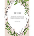 floral wreath with green eucalyptus leaves frame vector image vector image