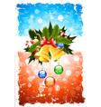 Grungy Christmas Greeting Card vector image