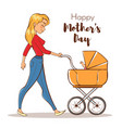 happy mother with a baby vector image vector image