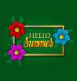 hello summer golden and orange gradient lettering vector image