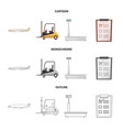 isolated object goods and cargo sign set of vector image vector image