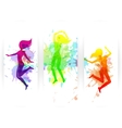Jumping People Banners vector image