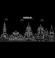 karelia silhouette skyline russia - karelia vector image vector image