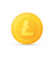 litecoin icon is a golden color crypto currency vector image vector image