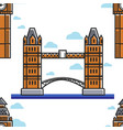 london tower bridge england symbol seamless vector image