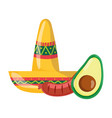 mexican independence day mustache sausage vector image vector image