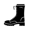 military boots glyph icon women army rough shoes vector image