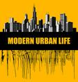 modern urban life placard and conceptual design vector image