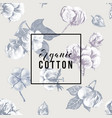 organic cotton background vector image vector image