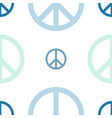 peace day logo seamless pattern vector image vector image