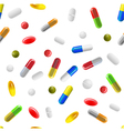 pills background vector image