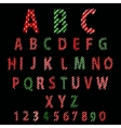 Polka Dot Alphabet Red alphabet design in white vector image