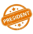 President grunge icon vector image vector image