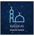 ramadan cresent moon concept abstract night vector image