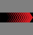 red arrow in a row arrows red on black background vector image vector image