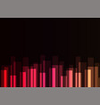 red stripe overlap in dark background vector image vector image