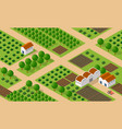 rural isometric ranch farm vector image