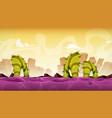 seamless fantasy alien landscape for game ui vector image vector image
