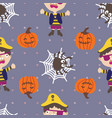 seamless pattern halloween whiny pirates vector image