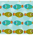 Seamless pattern with funny cute fish animal on a vector image vector image