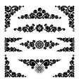 set of ornamental elements vector image vector image