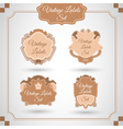 Set with vintage labels vector image