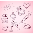 Sketchy valentine day icons vector image vector image