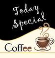 Special coffee today written on blackboard