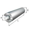 Steel cylinder tube industrial metal object vector image vector image