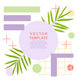 summer art template with a palm leaves and vector image vector image