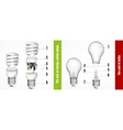 The unit of energy-saving lamps vector image vector image