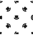 top hat with buckle pattern seamless black vector image vector image