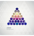 Triangle triangle background with plenty sp vector image vector image