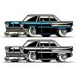 vintage american classic car vector image vector image