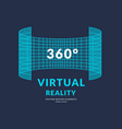 virtual reality and new technologies for games vector image